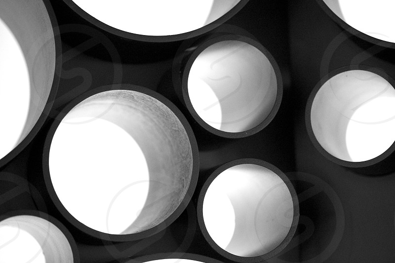 Black and white circles photo