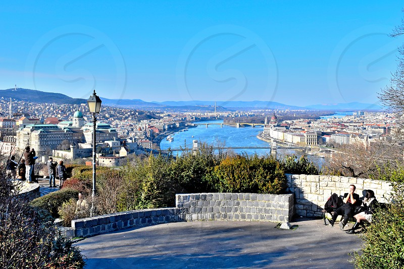 View of Budapest from the Gellert hill. photo