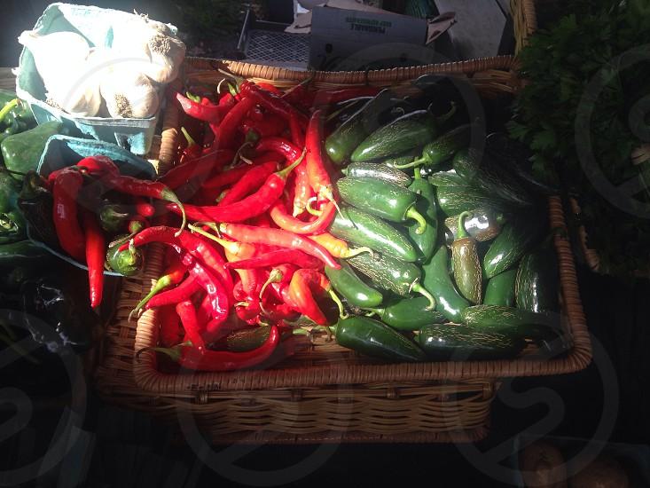 Farmer's Market Vegetables Peppers photo