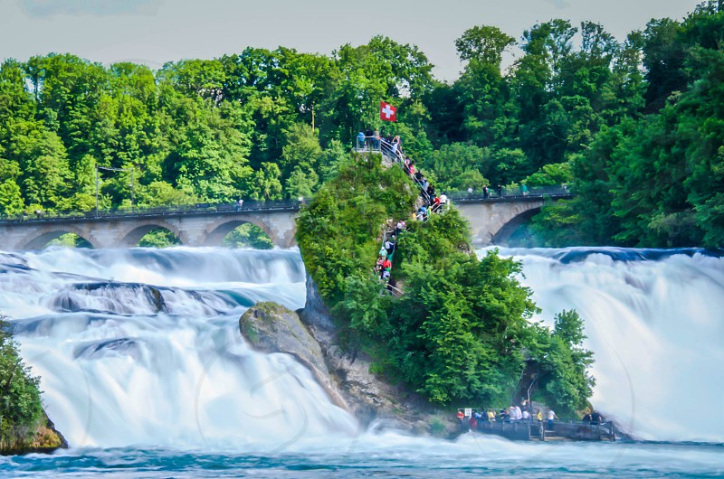 Switzerland River Rhine Rhein waterfall Rhine Fall Rheinfall  photo