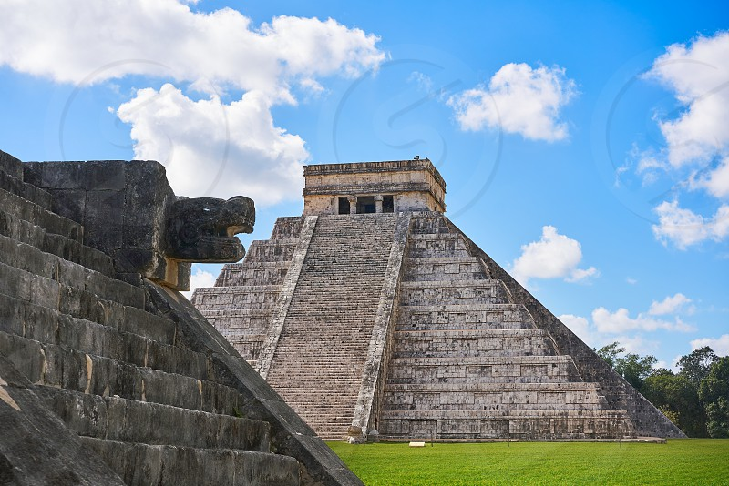 Chichen Itza El Templo pyramid Kukulcan temple in Mexico Yucatan photo