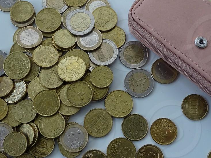 euros and a wallet                         photo