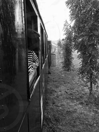 Train rain railrailway travel transportation  photo