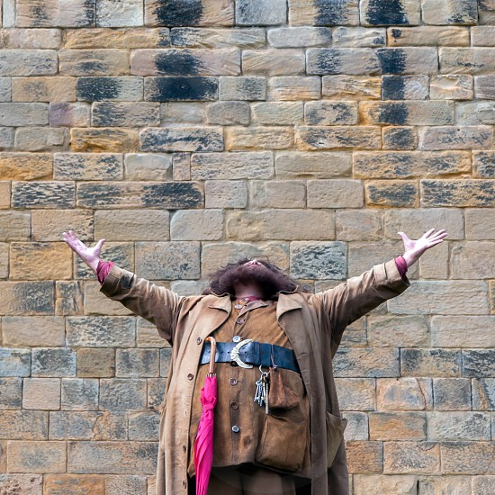 Hagrid entertaining the crowds at Alnwick Castle photo