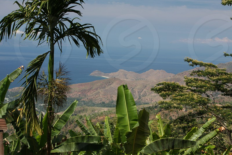 a vilage in the landscape near the city of Dili in the south of East Timor in southeastasia. photo