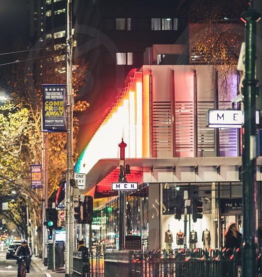 Elizabeth Street night Melbourne CBD Melbourne CBD colours colour buildings Street scape photo