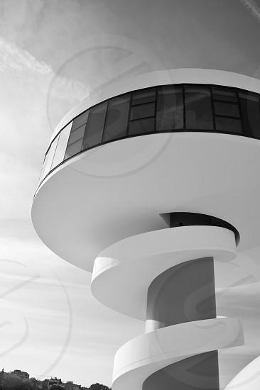 white round modern building structure photo