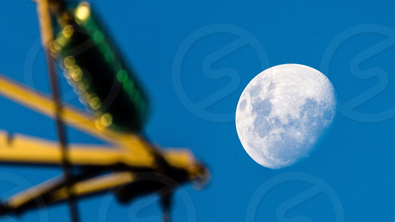 Power electricity telecommunications moon phase  photo