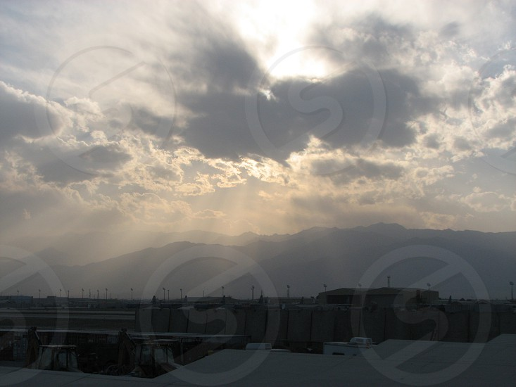 Sunset over Afghanistan 2014. photo