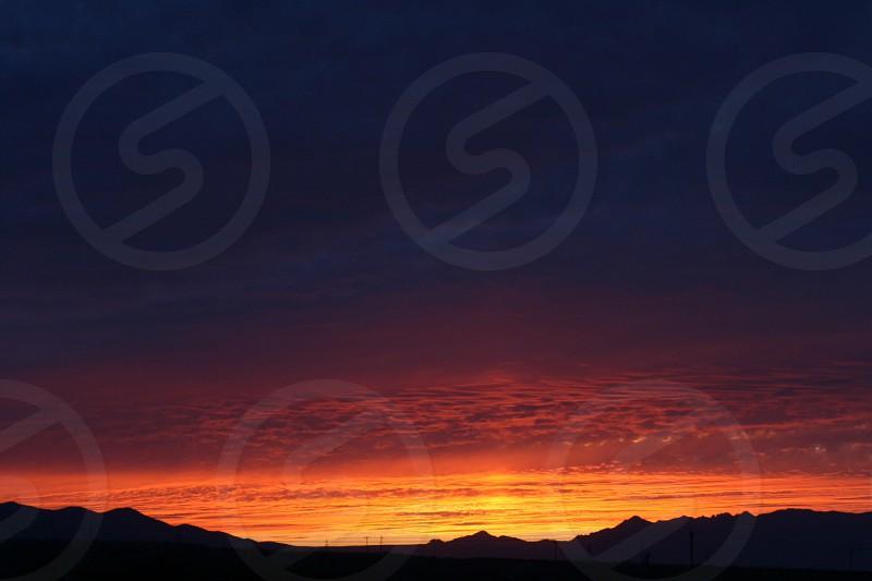 Sunset orange desert photo