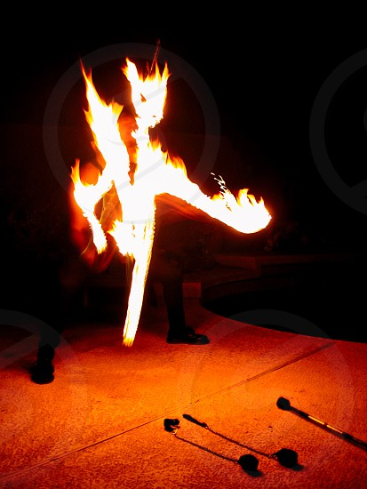 Fire dragon fire dancer flame dragon writing with fire drawing with fire playing with fire photo