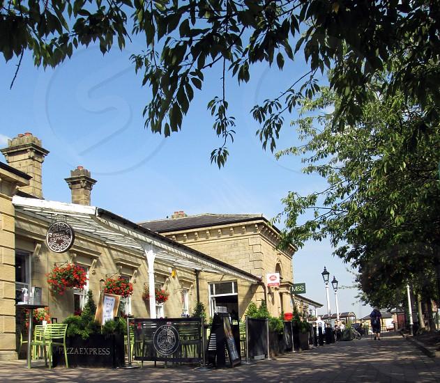 UK. ENGLAND.WEST YORKSHIRE. Ilkley the railways station. photo