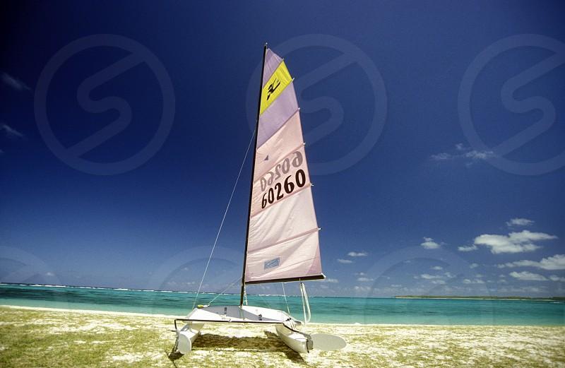 Afrika Indischer Ozean Mauritius Insel Strand Reisen Ferien Meer BeachEin Traumstrand an der Westkueste der Insel Mauritius in Indischen Ozean vor Afrika.       (Urs Flueeler)  photo