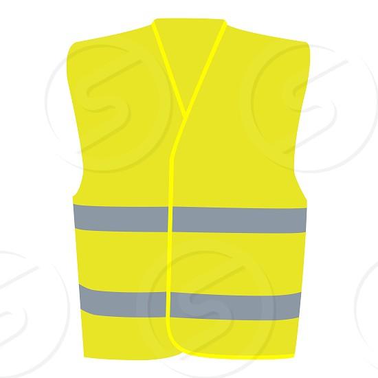 Safety Yellow Vest Isolated on White Illustration photo