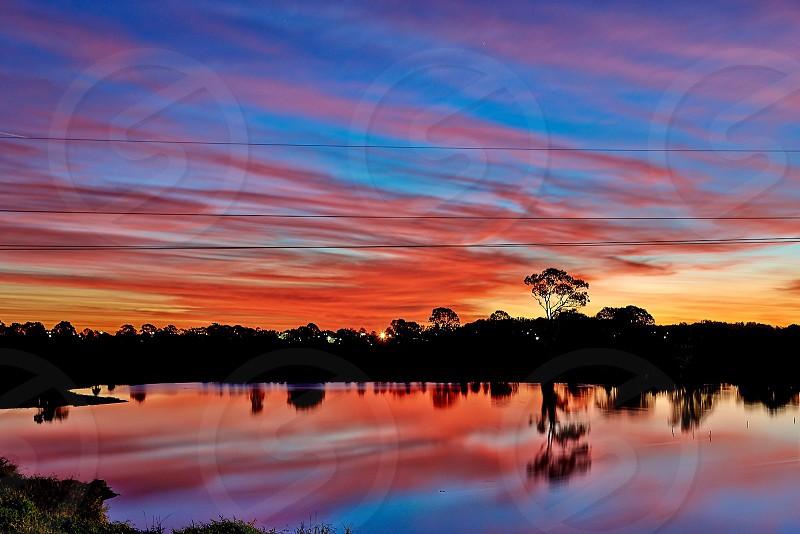 Sunset at Eagleby Brisbane photo