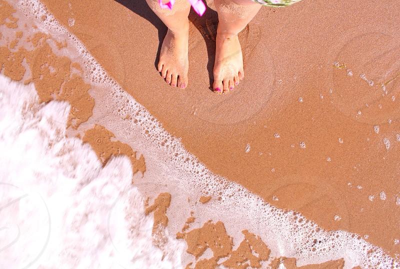 Paddling at the beach photo