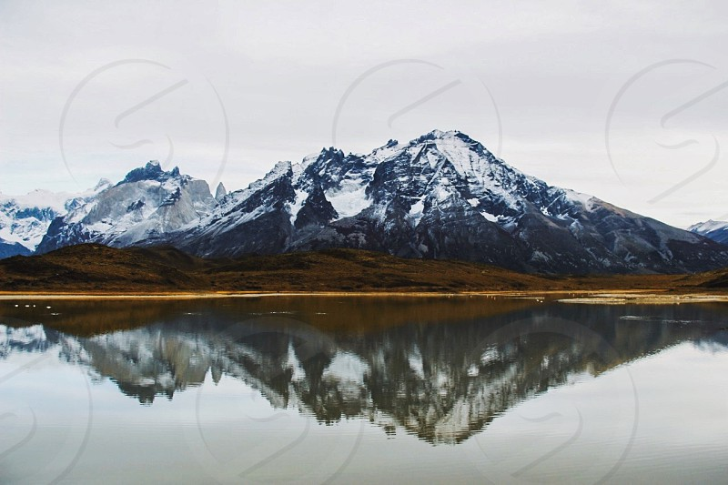 Moody mountains in Patagonia. photo