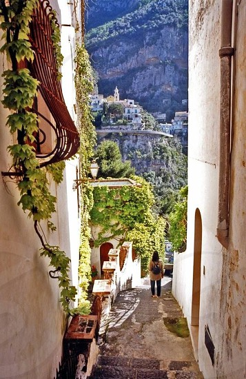 Street in Amalfi Italy  photo