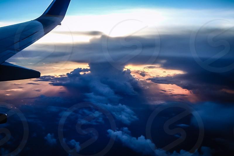 Sunset over Panama photo