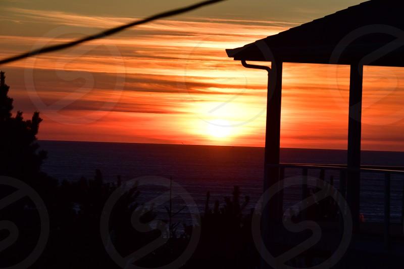 Sunset over the Oregon Coast. photo