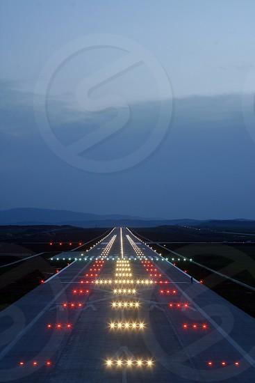 Landing runway photo
