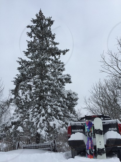 Snow snowboarding winter love his and hers gnu  lib tech upstateny cold snowy snowboard snowboarders  photo