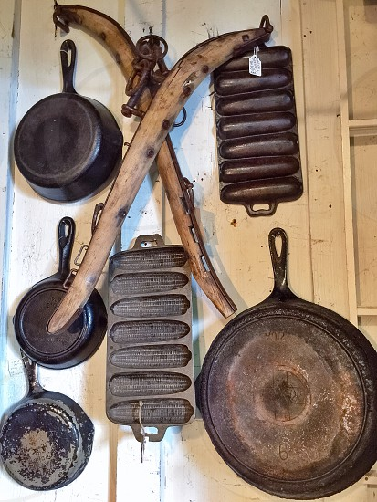 Diverse Collection of Cast Iron photo