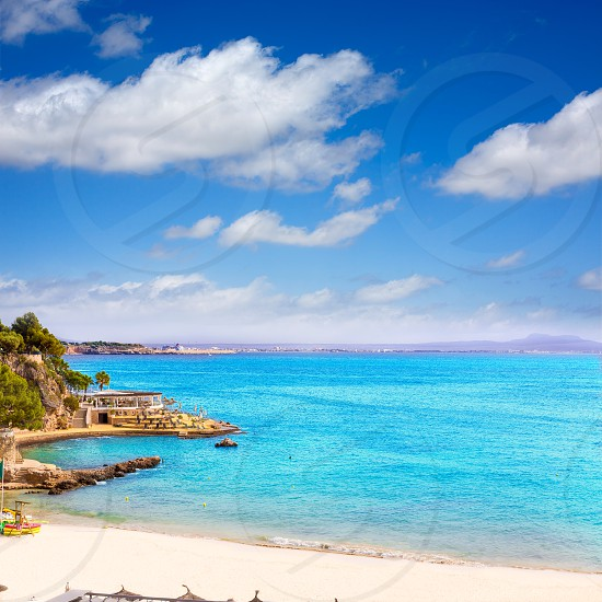Majorca Playa de Illetas Balneario beach in Mallorca Bendinat Calvia at Balearic islands of spain photo