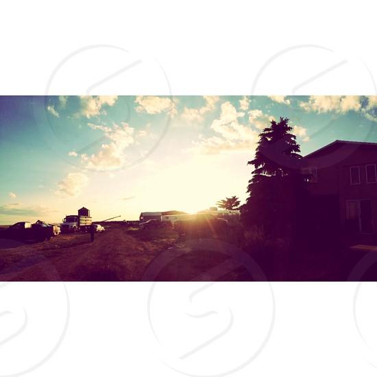 Sunsets in Alex Alberta  photo
