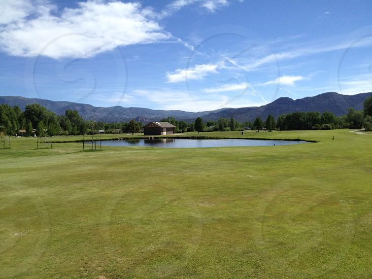 mountain golf course photo