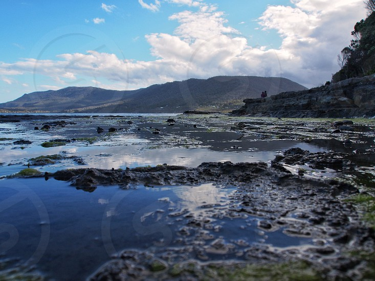Tessellated pavement Tasmania Australia. photo