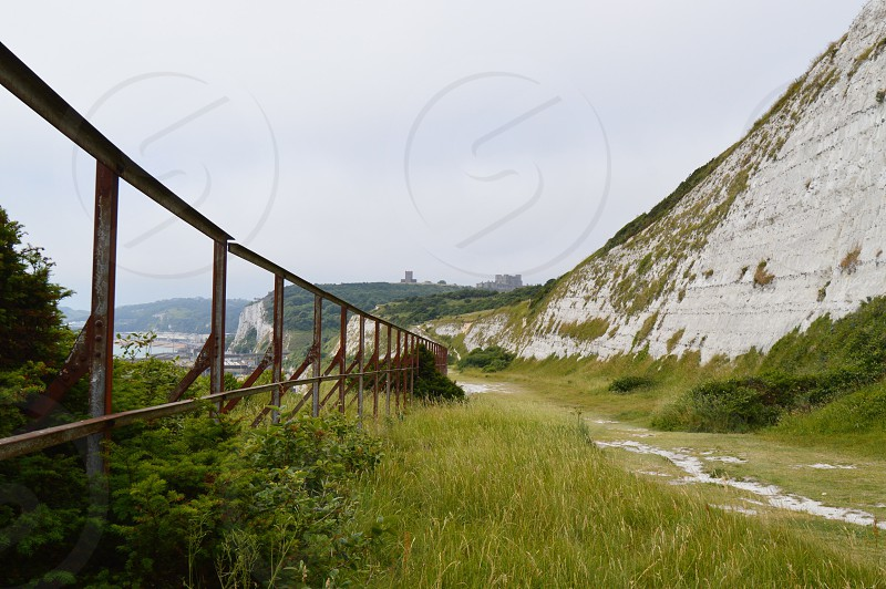 Dover Castle from the White Cliffs photo