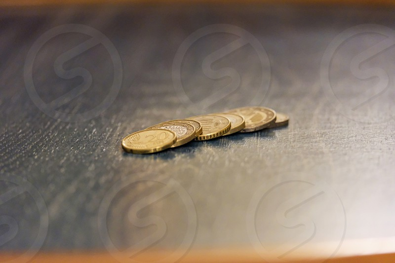 coins on a table photo