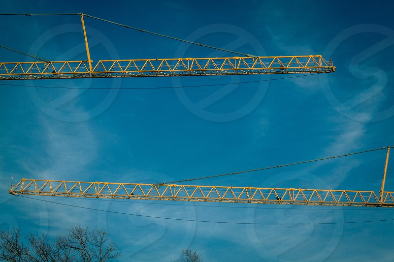 Construction Cranes  Fort Worth Texas photo