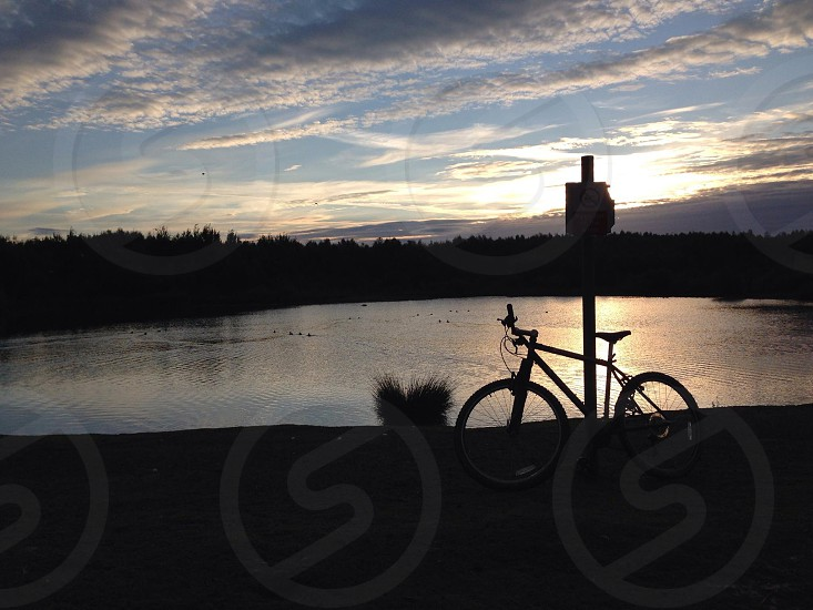 Sunrise inspiring cycling mtb photo