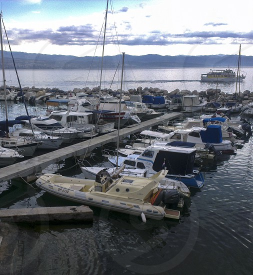 Sea port in Icici Croatia. The photo is taken in August 2013. photo