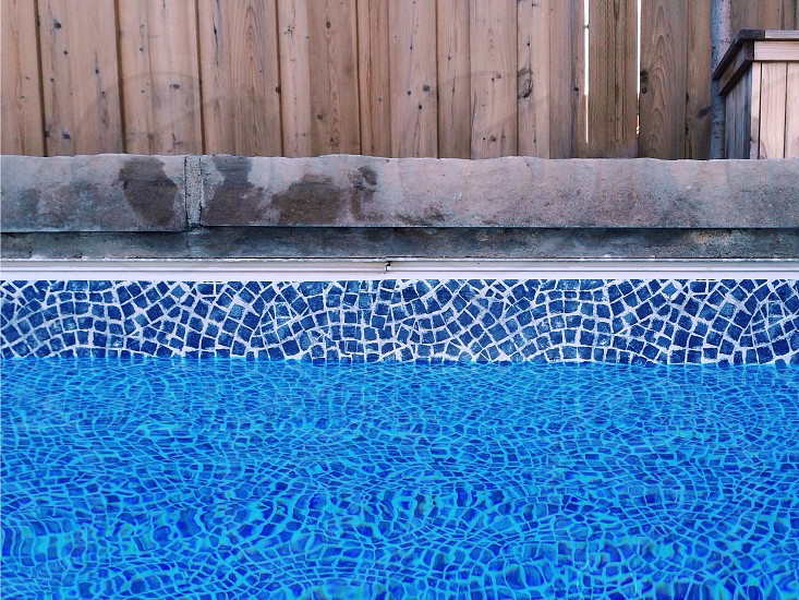 blue outdoor pool photo