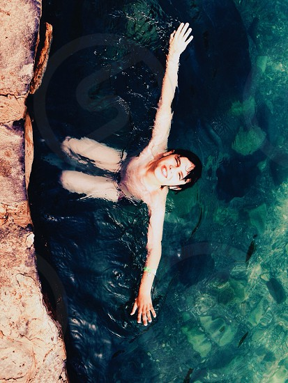 boy in water photo