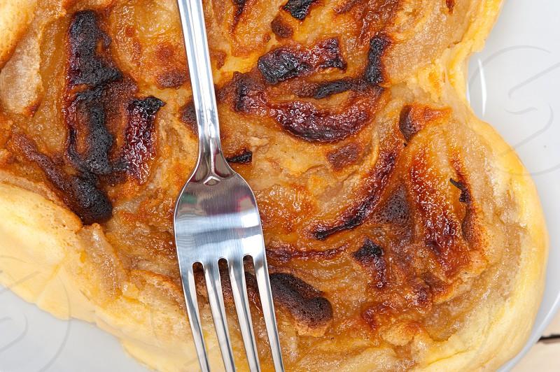 fresh baked  homemade rustic pears pie macro closeup  photo