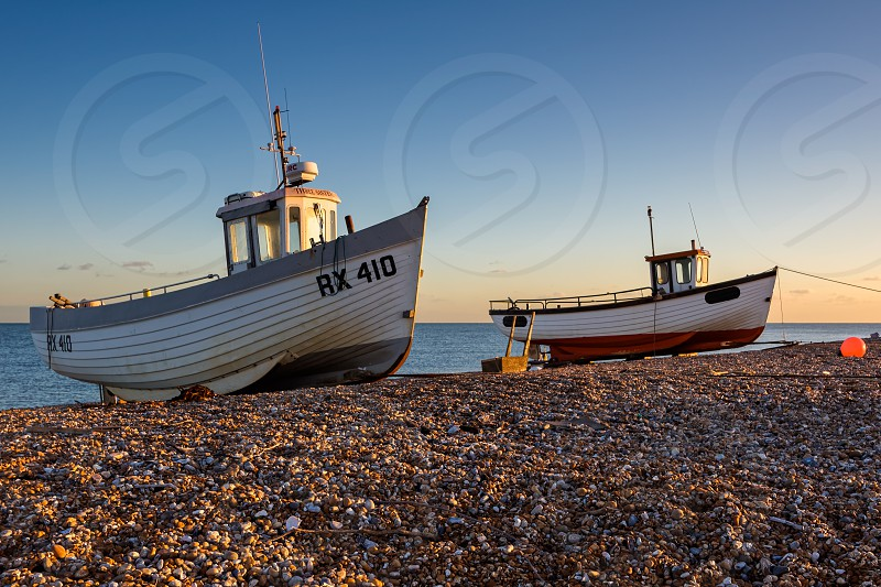 Fishing Boats on Dungeness Beach photo