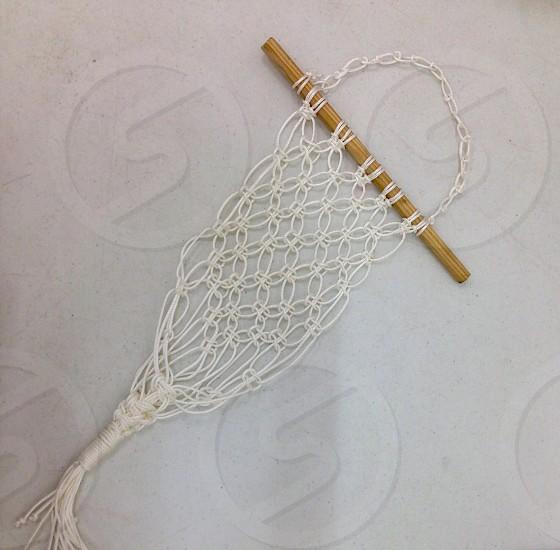 Textile; Macramê; Weaving; Yarn; Loom. photo