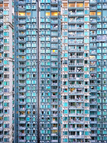Hong Kong apartment building. Abstract background. photo
