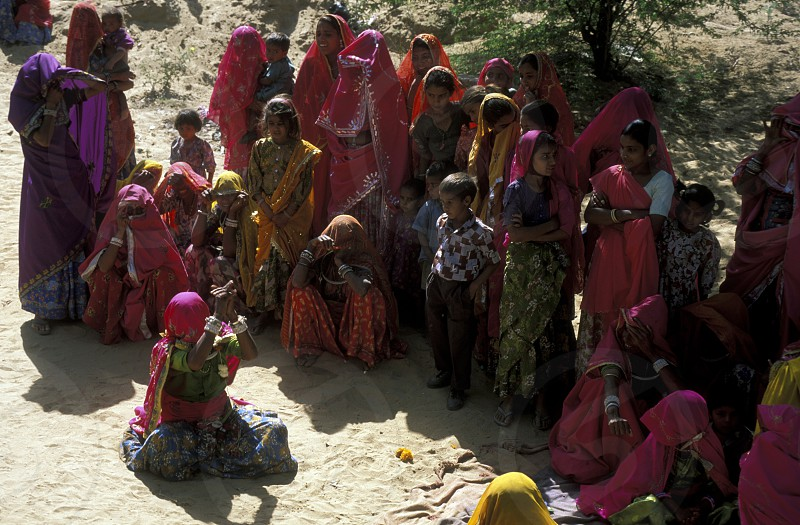 a women funural in the town of Jaisalmer in the province of Rajasthan in India. photo