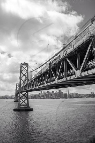 City views under the Bay Bridge California  photo