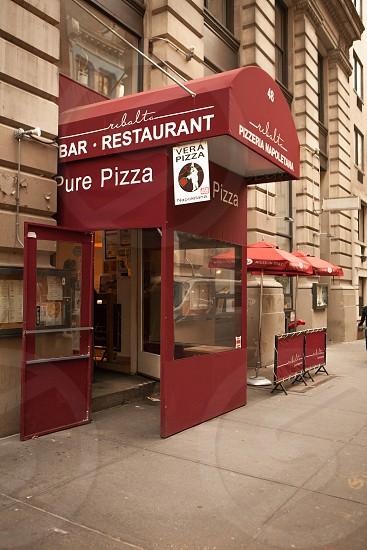 red and white pizzeria napoletana gate photo