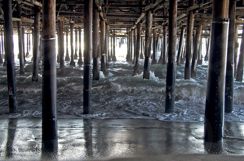 Underneath the pier in Santa Monica photo