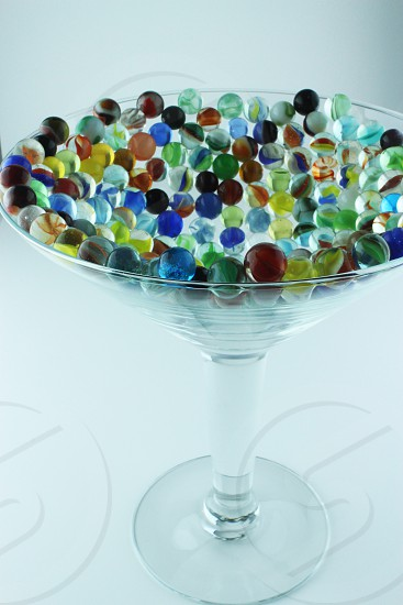 Marbles martini glass marbles in martini glass glass color light photo