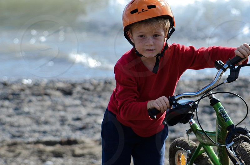 """Boy going a bit """"off track"""" with his bike! photo"""