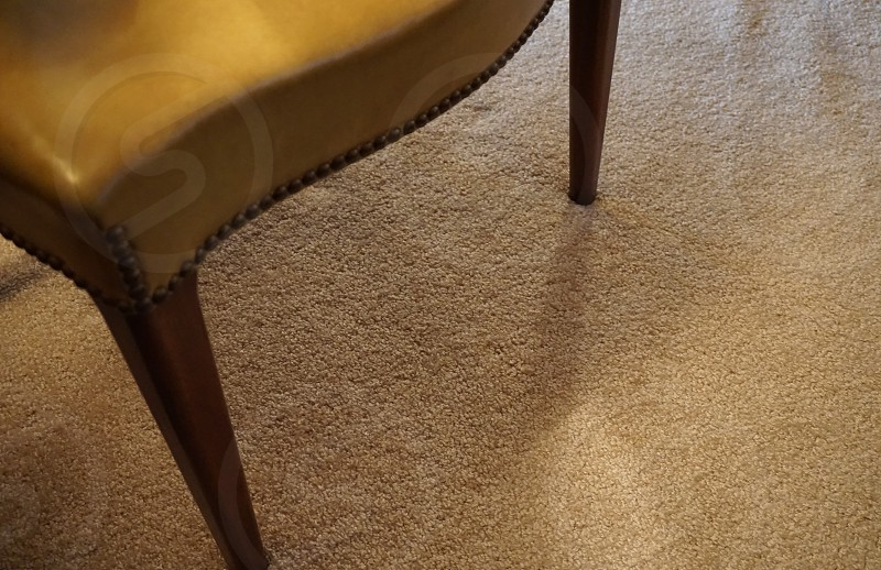 brown leather chair on brown carpet rug photo
