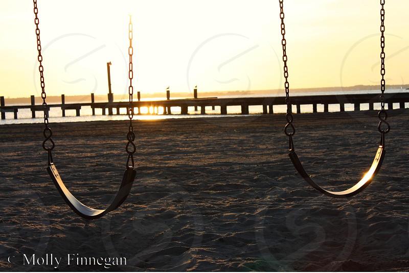 Swing Set Sunset  photo